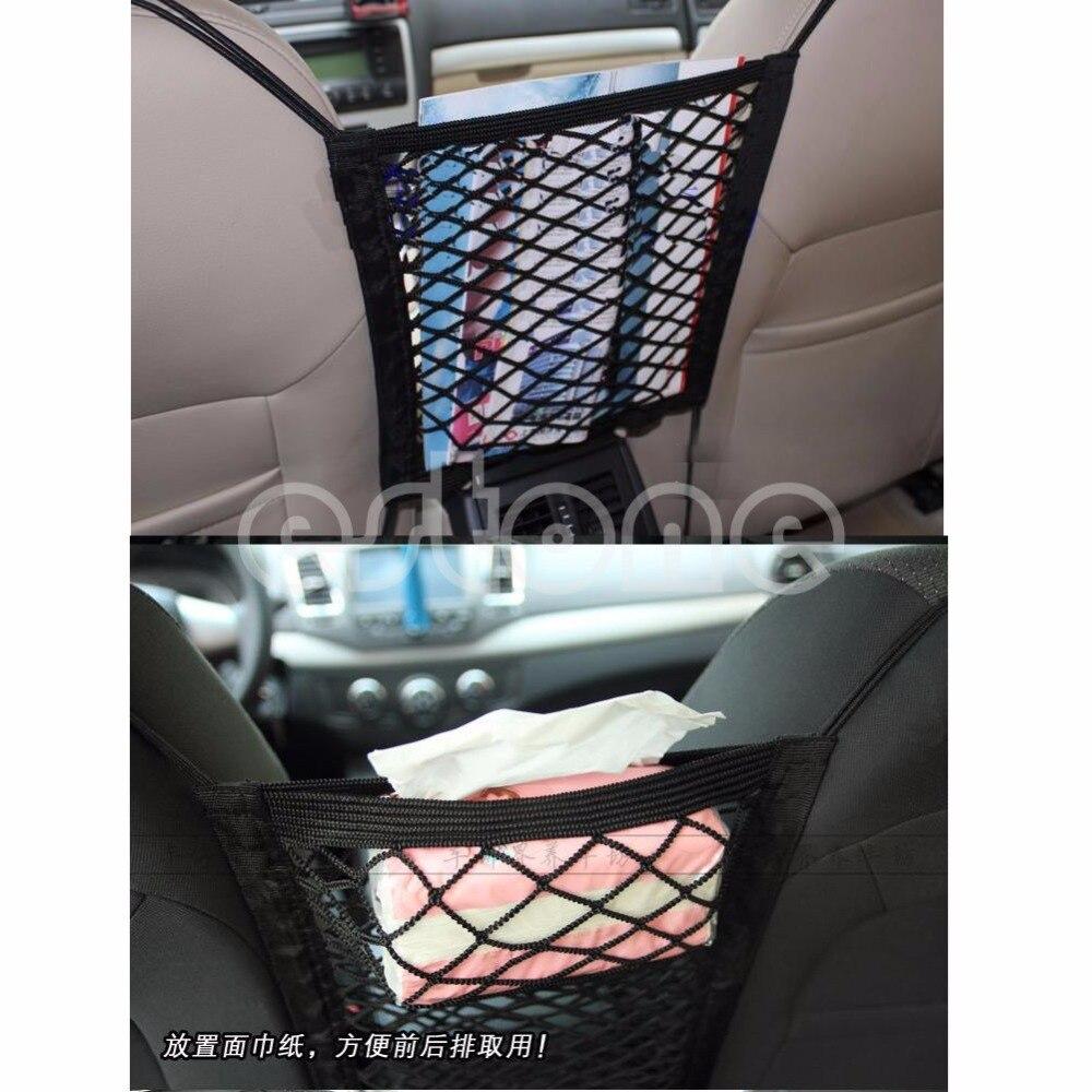 2017 Nylon Black Mesh Cargo Net Car Seat Truck Storage Luggage Organizer Holder Hooks JUN08 _20