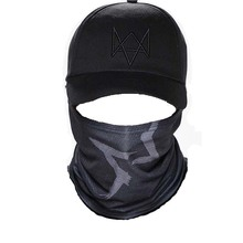 Watch Dogs Aiden Pearce Face Cosplay Mask Hat Mens Panel Tactique Baseball Caps Watch Dogs 2