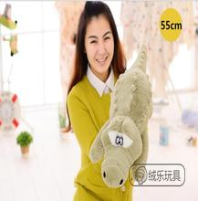 Cute New Arrival 55cm Stuffed animals Simulation Crocodile Plush Toy Cushion Pillow Toys For Girls and kids Gifts