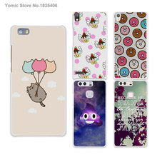cute color balloon cute cat flying hard White Skin phones Cases for HUAWEI Ascend P6 P7 P8 lite P9 honor 6 7 8 mate s 7 8