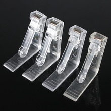 4Pcs/set Clear Plastic Tablecloths Table Desk Cover Holder Skirt Clips Grips Fit For Party BBQ