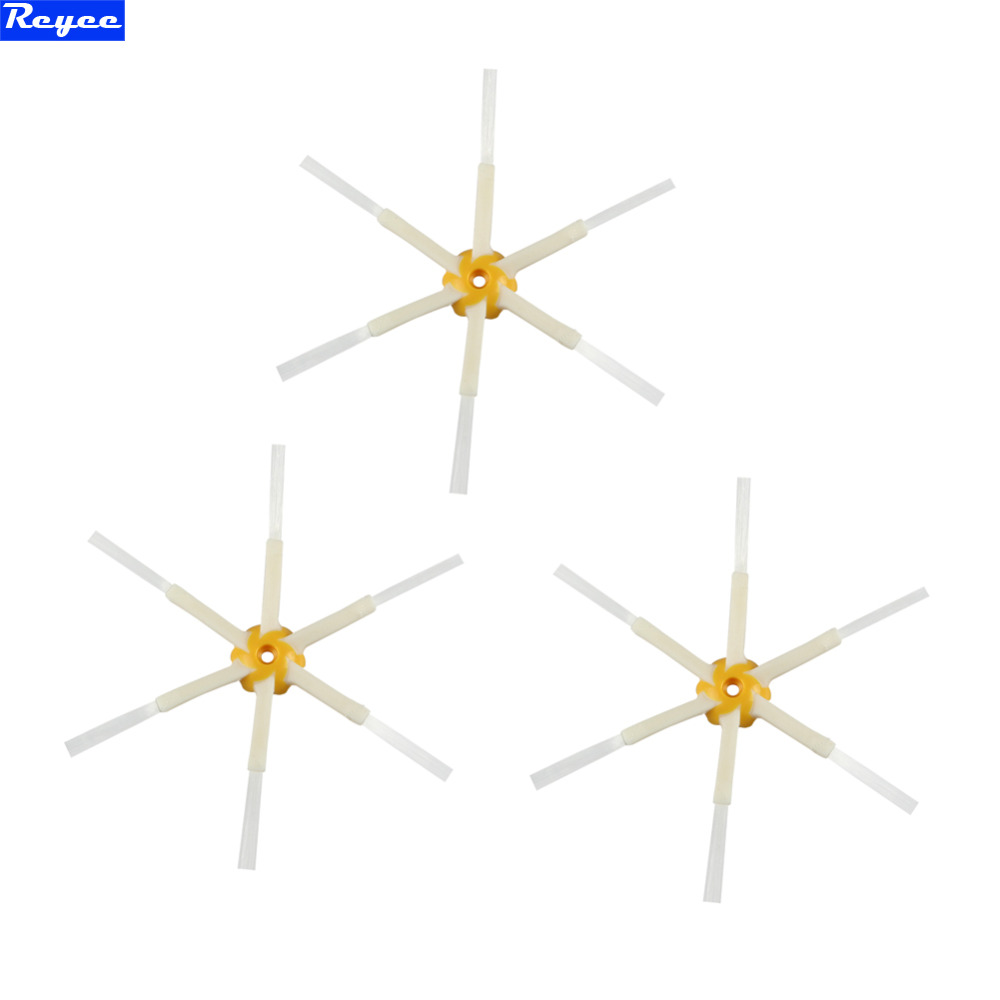 Free Post New 3 Pieces 6 Arms Sidebrush For iRobot Roomba 500 600 700 Series Side Brush 550 560 570 630 650 760 770<br><br>Aliexpress