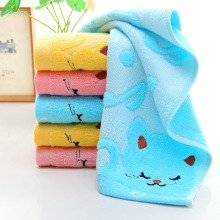 Exquisite design Non-twisted Bamboo Fiber Music Cat Baby Wash Towels Spa Facial Bath Towel