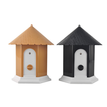 Home Style Outdoor Ultrasonic Anti Pet Dog Bark Control Bark Stop Repeller Controller Birdhouse Sonic Dog Training Device(China)