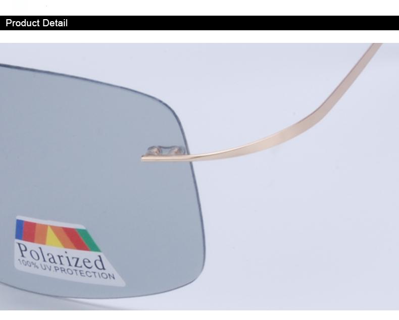 Vazrobe (5s Change Color) Photochromic Sunglasses Men Women Titanium polarized Sun Glasses Chameleon Rimless Anti-glare Driving 8