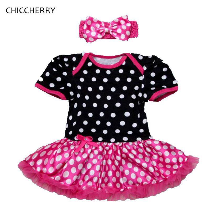 Summer Toddler Lace Romper Dress Cotton Polka Dots Baby Girl Dresses Newborn Tutu Sets Bow Headband Vestido Bebe Infant-clothing<br><br>Aliexpress