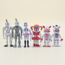 5*6Pcs/set FNAF Figure Five Nights At Freddy's Sister Location Baby Ballora Ennard Puppet Funtime Freddy Foxy Action Figures Toy