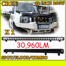 Free UPS ship!1pcs/set,42inch 260W 30960LM,10~30V,6500K,LED working bar,Boat,Bridge,Truck,SUV Offroad car,black! prado fog light