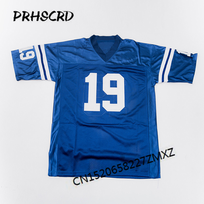 Retro star #19 Johnny Unitas Embroidered Throwback Football Jersey(China)