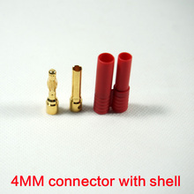 5 Set Airplane Drone Accessories Banana Plug 4mm Shell Gold-plated Bullet Cable Connector Battery Charging Rc Lipo Connector(China)