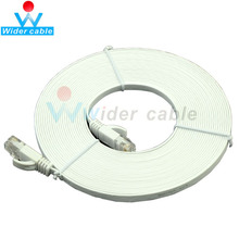 1m 2m 3m 5M Best Price Flat Cabo UTP CAT 6 Ethernet Network Lan Cable RJ45 to RJ45 White Color(China)