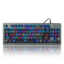 RGB LED Backlight 87 Keys Professional Gaming Mechanical Keyboard Computer ABS For Desktop Laptop Computer LOL Games