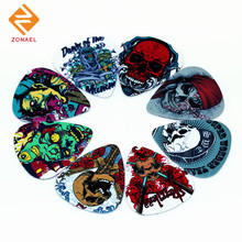 Zonael10pcs Newest The skeleton 2 Guitar Picks Thickness 0.71mm 2S3-12