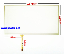 "Wholesale"" New 6.9"" inch 6.95"" inch 167*93mm Touch Screen Panels for 167mm*93mm GPS Touch screen digitizer panel replacement"