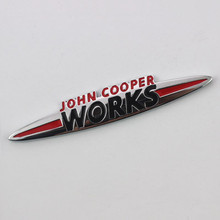 Case For Mini Auto 3D Metal Chrome JOHN COOPER WORKS Emblem Decal Badge Sticker(China)