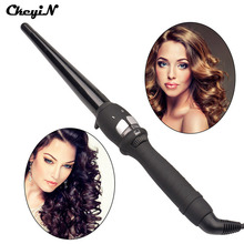14-25mm Cone Ceramic Electric Hair Curling Wand 110-240V Hair Styler Curls Curling Iron DIY Hair Styling Tools Curler Roller 495