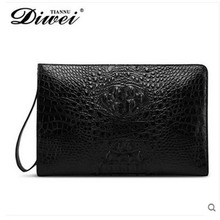 diwei 2017 new hot free shipping crocodile leather carrying large capacity coach men purses male traveler bag men bag clutches(China)