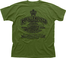 Royal Enfield T shirt men Motorcycle Biker Vintage Classic 100% cotton tee USA size S-3xl new(China)