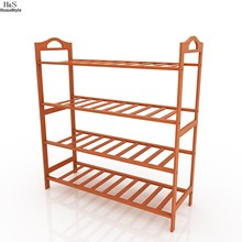 Homdox Brand New Storage Organizer Shoe Rack Natural Bamboo Home Entryway 4 Tiers Shoe Shelf #50-25(China)