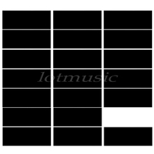 20pcs Black Adhesive Acoustic Pickguard Material Scratch Plate 18*46cm Soft Seft Design(China)