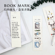 30pcs/box kawaii diy paper bookmark stationery for books holder message card school supplies papelaria creative II1-13(China)