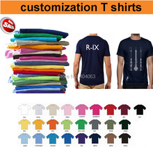 Mini wholesale!50%-60% off shipping cost!custom T shirt printing,custom logo shirts,print your logo,100% Cotton,25colors,US size