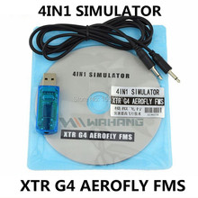 4IN1 USB Flight Simulator Computer Flight Simulator G4 FMS XTR AEROFLY SU27 KT Model airplane four in one computer software(China)