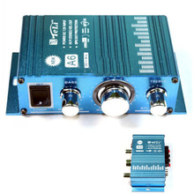 BY DHL OR EMS  50 pieces New Mini Hi-Fi Audio Stereo Amplifier For Cars Motorcycle Boat Home 12V Booster A6 Speaker