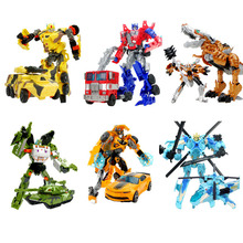 Anime Series Action Toys Transformation Robot Car ABS Plastic Class Cool Model Boy Toy Christmas Gifts TK0161