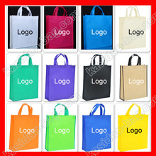 (500pcs/lot) custom logo PP Polypropylene non woven eco reusable shopping bag