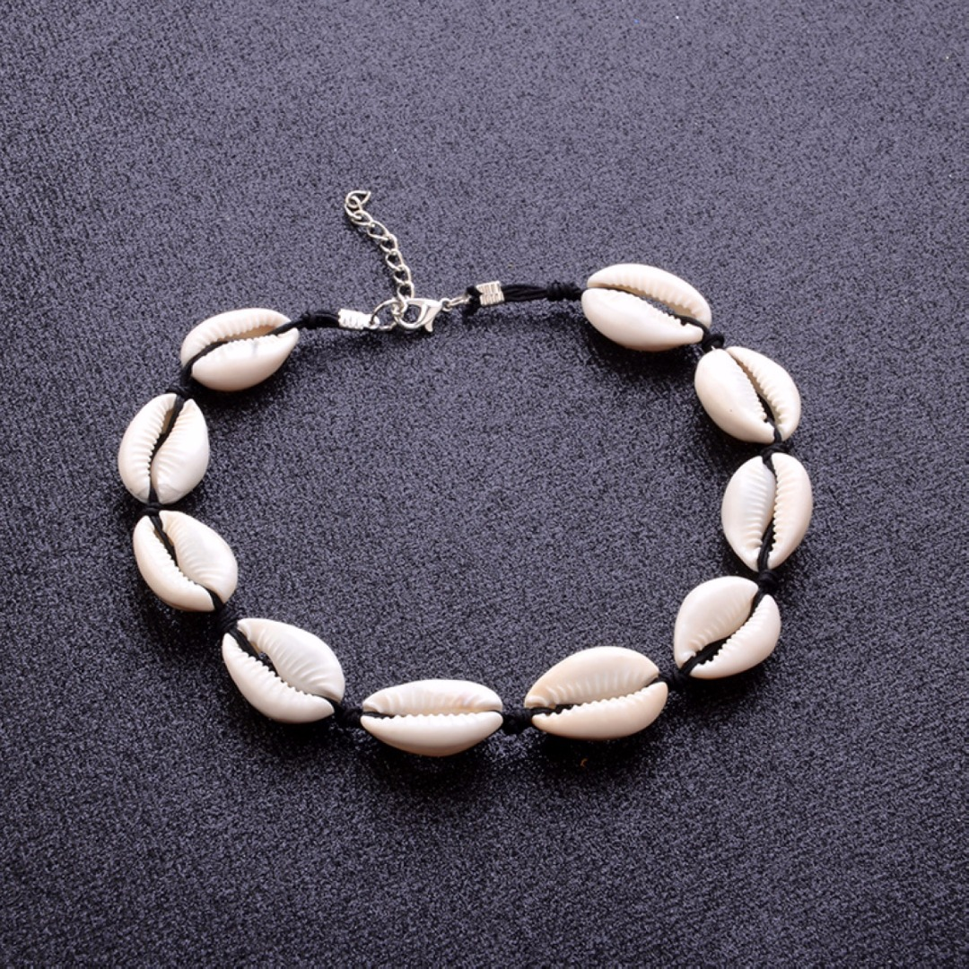 Fashion Jewelry Choker Collar Bohemian Shell Pendant Necklace Punk Womens Boho Beach Collier Femme Bead Necklaces Gift