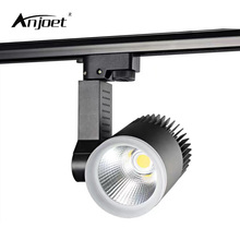 ANJOET 7W 15W 20W 30W COB LED Track Lighting Aluminum rail lamp leds spotlights iluminacao for Clothing Exclusive Shop lighting(China)