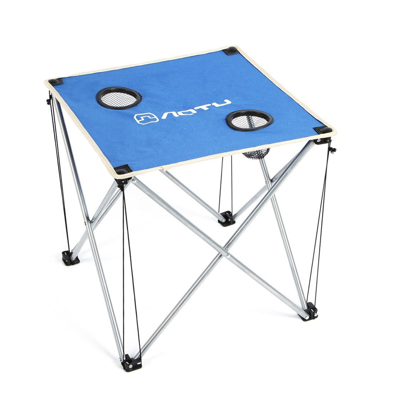 DST Portable Folding Beach Table and Chair Five Sets Burgundy Integrated Design High Stability for Outdoor Camping Activities<br>