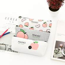 1Pc Juicy Peach School Supplies Pencil Case Kawaii For Student School  Cosmetic Bag Women Office Supplies