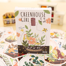 30 pcs/lot novelty heteromorphism Greenhouse Girl postcard greeting card christmas card birthday card gift cards