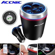 [Update] Accnic C1 Car USB Wireless FM Transmitter Radio Receiver USB Car Cigarette Lighter MP3 Player FM Transmitter Bluetooth(China)