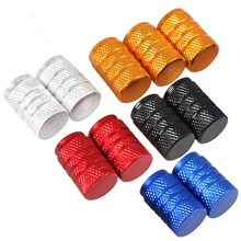 2017 hot 4pcs/pack Theftproof Aluminum Car Wheel Tire Valves Tyre Stem Air Caps Airtight Cover color for skoda cruze ford mazda