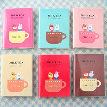 New Mini Sketchbook Cute Cartoon Milk Tea Notebook Diary Planner Notepad Simple School Supplies for Student New Papelaria(China)