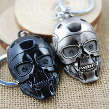[The Terminator] T-800 Robot Mask Cool Keychain Alloy Metal Key Ring Steam Punk Accessories for Men Cheap Present Wholesale