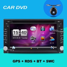 "2 din 6.2"" Steering wheel Auto 2din car dvd player GPS Radio Tuner PC Video Monitors universal RDS Blutooth digital tv (option)"