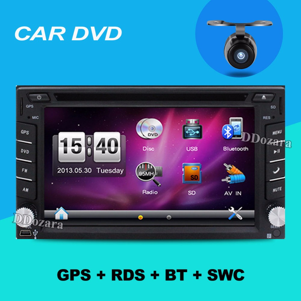 "2 din 6.2"" Steering wheel Auto 2din car dvd player GPS Radio Tuner PC Video Monitors universal RDS Blutooth digital tv (option)(China (Mainland))"