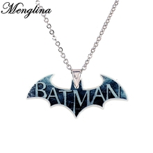 Buy Cartoon Hero Batman Plastic Acrylic Charm Pendant Necklace Girls Metal Chain Flatback Resin Children's Necklaces & Pendants for $1.89 in AliExpress store