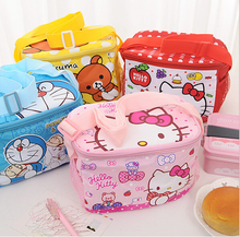 Hello Kitty Waterproof Thermal Cooler Insulated Lunch Box ,kids lunch boxes Outdoor student Food Container mother baby Lunch BOX(China)