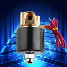 New 220V 1/4 inch Normally Closed Electric Solenoid Valve N/C for Water Air Gas Diesel 2-Way/Position
