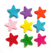 1000PCS 2.5CM Non-woven patches Star Felt Appliques for clothes Sewing Supplies diy craft  Christmas ornament