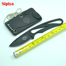 High Quality Hunting Knife Outdoor with necklace Camping Pocket Knives Blade Rubber Handle Knife