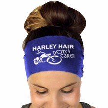 Harley hair Ladies Letter Sports Yoga Sweatband Gym Stretch Headband Hair Band Ladies' letter print Headband dropship #PY25(China)