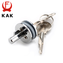 KAK-501 Glass Lock Zinc Alloy Showcase Push Glass Display Cabinet Door Cylinder Locks Sliding Glass Push Door Hardware