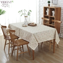 Korean Style Tablecloth Flower Pattern Lace Edging Table Cloth Rectangular For Outdoor Party Manteles Para Mesa Tafelkleed(China)