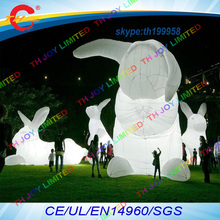 free air shipping to door,20ft+4pcs/lot,inflatable led lighting bunny rabbit/outdoor easter decoration for event celebration(China)